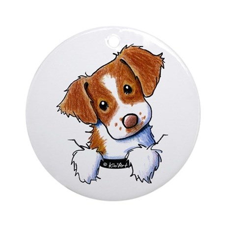 Pocket Brittany Ornament (Round)