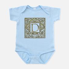 Monogram D Infant Bodysuit