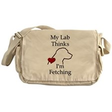 My Lab Thinks.... Messenger Bag