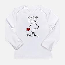 My Lab Thinks.... Long Sleeve Infant T-Shirt
