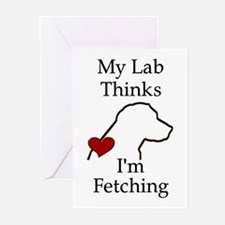 My Lab Thinks.... Greeting Cards (Pk of 20)