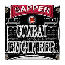 US Army Combat Engineer Sappe Tile Coaster