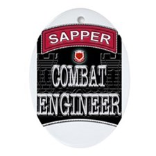 US Army Combat Engineer Sappe Ornament (Oval)