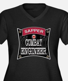US Army Combat Engineer Sappe Women's Plus Size V-