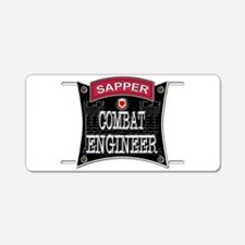 US Army Combat Engineer Sappe Aluminum License Pla