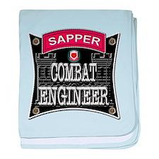 US Army Combat Engineer Sappe baby blanket