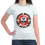 Zombie Hunter 1 Jr. Ringer T-Shirt