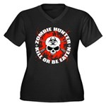 Zombie Hunter 1 Women's Plus Size V-Neck Dark T-Sh