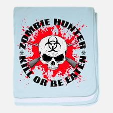 Zombie Hunter 1 baby blanket