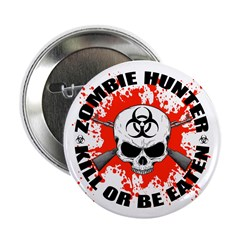 """Zombie Hunter 1 2.25"""" Button (100 pack)"""