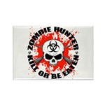 Zombie Hunter 1 Rectangle Magnet (10 pack)