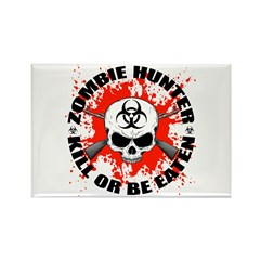 Zombie Hunter 1 Rectangle Magnet (100 pack)