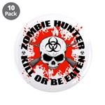 "Zombie Hunter 1 3.5"" Button (10 pack)"