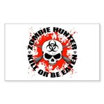 Zombie Hunter 1 Sticker (Rectangle 10 pk)