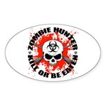 Zombie Hunter 1 Sticker (Oval 10 pk)