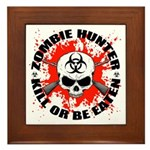Zombie Hunter 1 Framed Tile