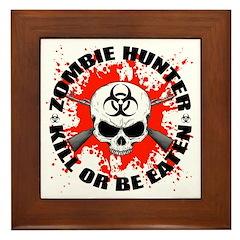 Zombie Hunter 1 Framed Tile