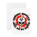 Zombie Hunter 1 Greeting Card