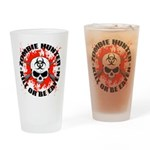 Zombie Hunter 1 Drinking Glass