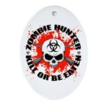 Zombie Hunter 1 Ornament (Oval)