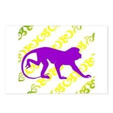Ancient Purple Monkey Scroll  Postcards (Package o