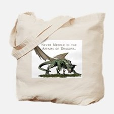 Cute Meddle affairs dragons Tote Bag