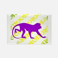 Ancient Purple Monkey Scroll Rectangle Magnet (10