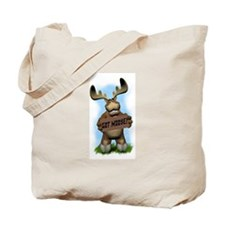 Cute Moose camping Tote Bag