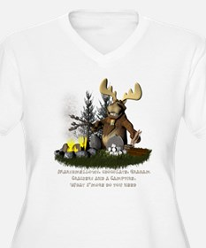 Cute Moose camping T-Shirt