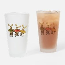 Cute Moose Drinking Glass