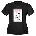 Lazy Women's Plus Size V-Neck Dark T-Shirt