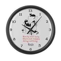 Lazy Large Wall Clock