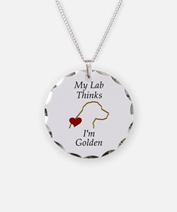 My (Golden) Lab... Necklace