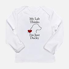 My (Black) Lab... Long Sleeve Infant T-Shirt