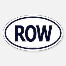 ROW Oval Decal