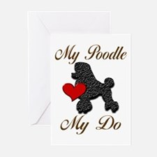 My (Black) Poodle... Greeting Cards (Pk of 20)