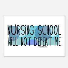 Nursing School will not Defeat Me Postcards (Packa