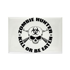 Zombie Hunter 2 Rectangle Magnet (100 pack)