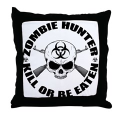 Zombie Hunter 2 Throw Pillow