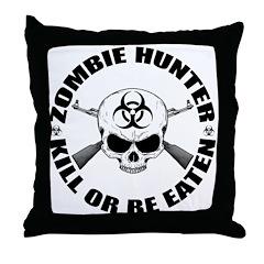 Zombie Hunter 2 Throw Pillow