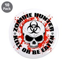 "Zombie Hunter 3 3.5"" Button (10 pack)"