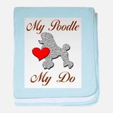My (White) Poodle... baby blanket
