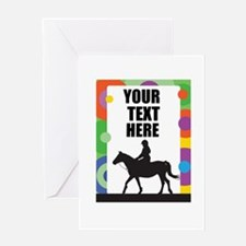 Horse Border Greeting Card