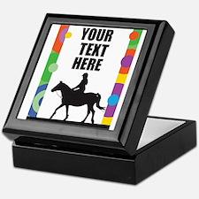 Horse Border Keepsake Box