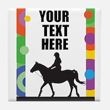 Horse Border Tile Coaster