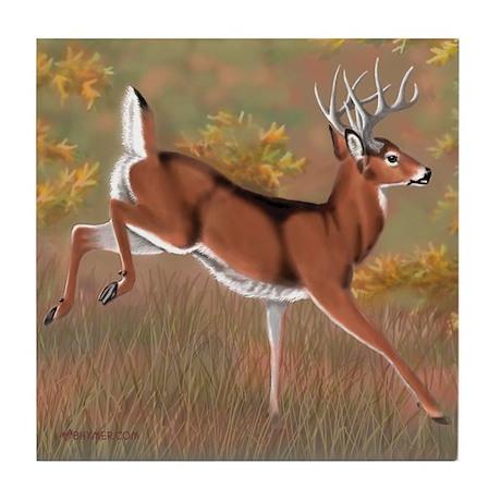 Whitetail Buck Tile Coaster