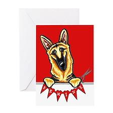 German Shepherd Valentine's Day Greeting Card