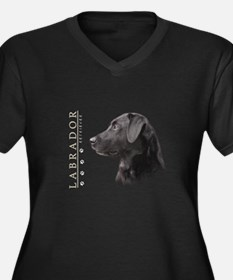 Black Lab Women's Plus Size V-Neck Dark T-Shirt
