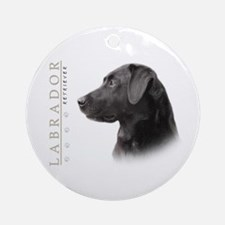 Black Lab Ornament (Round)
