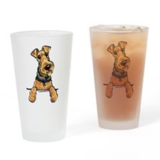 Airedale Terrier Lover Drinking Glass